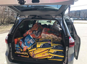 Supplies donated to Lowell Humane Society
