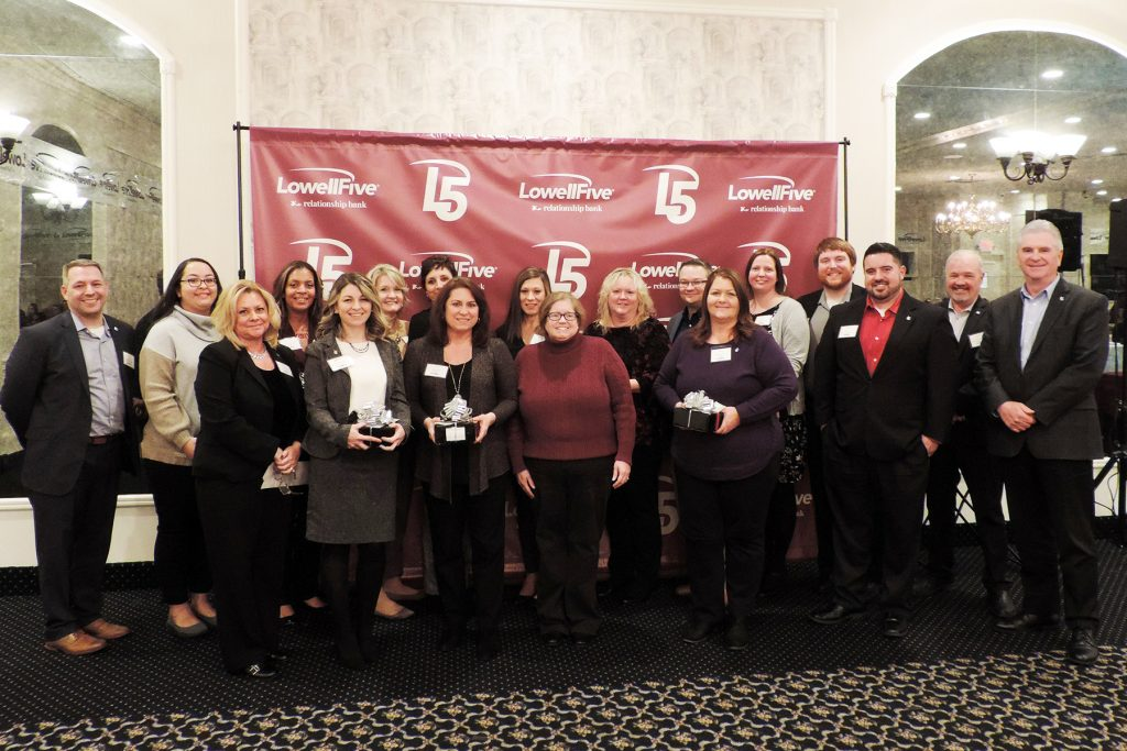 Lowell Five Bank 2019 Pillars of Excellence Awards Recipients
