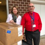 Lowell Five donates hand sanitizers to Lowell General Hospital